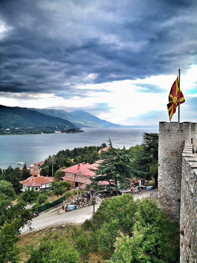 Λίμνη Μακεδονία της Οχρίδας στοκ εικόνες