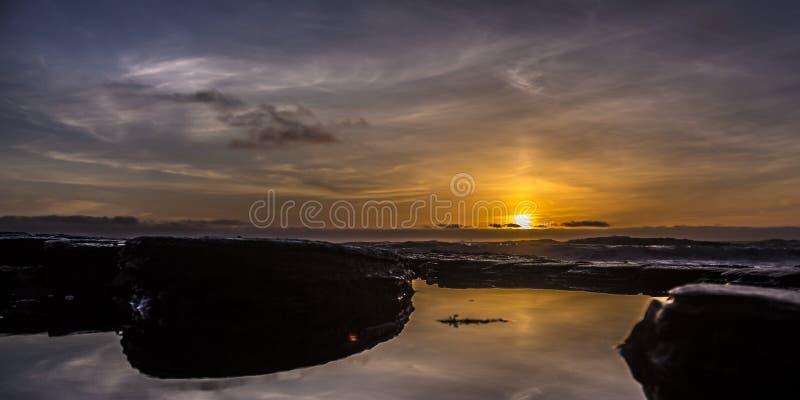 Λίμνη παλίρροιας στο Σαν Ντιέγκο Καλιφόρνια στο ηλιοβασίλεμα στοκ εικόνες