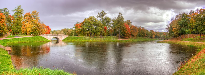 Λίμνη πανοράματος στοκ εικόνα με δικαίωμα ελεύθερης χρήσης