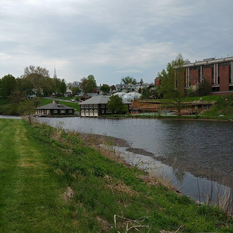 Λίμνη παραδείσου στο κολλέγιο Smith στο Νόρθαμπτον, Μασαχουσέτη στοκ εικόνες με δικαίωμα ελεύθερης χρήσης