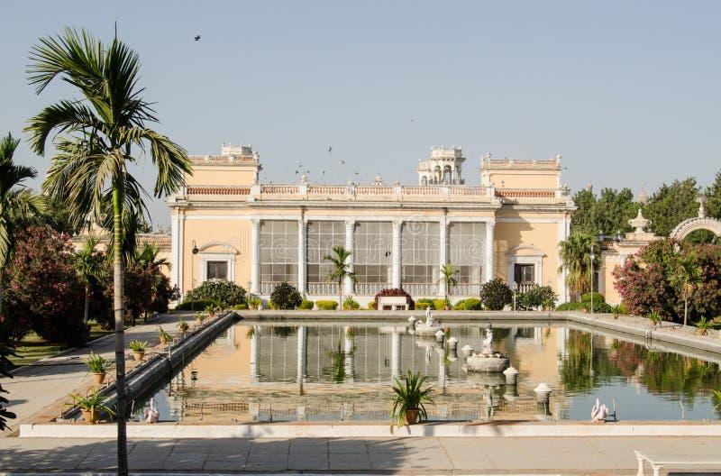 Λίμνη, παλάτι Chowmahalla, Hyderabad στοκ φωτογραφία