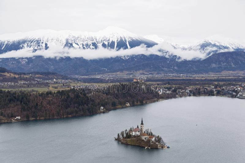 Λίμνη που αιμορραγείται στη Σλοβενία στοκ φωτογραφία με δικαίωμα ελεύθερης χρήσης