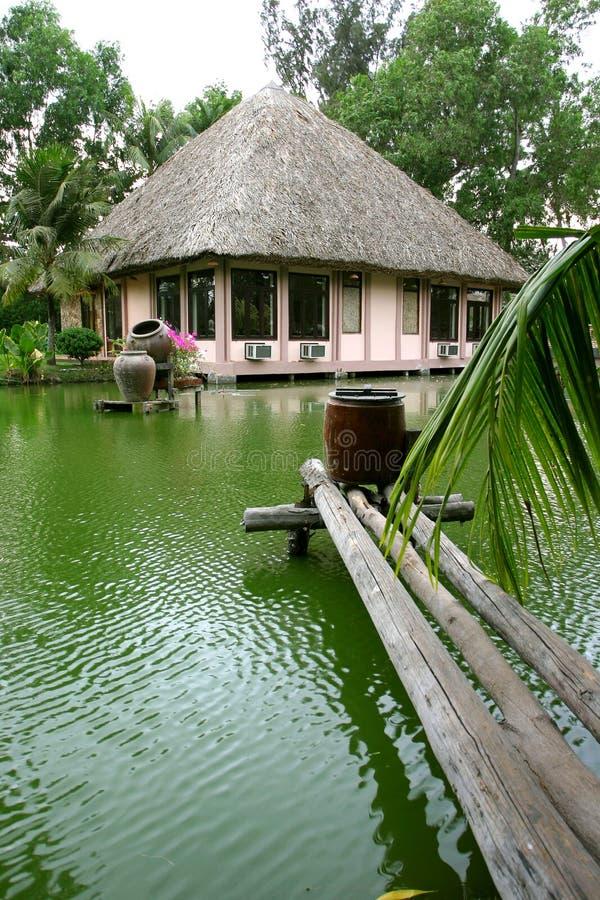 Download λίμνη σπιτιών στοκ εικόνα. εικόνα από λουλούδι, άχυρο - 2232281