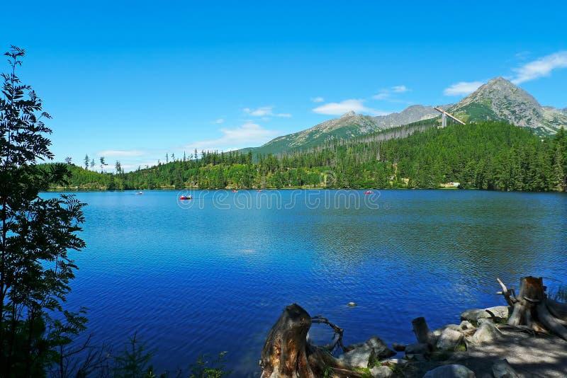 Λίμνη στα βουνά High Tatra, Σλοβακία στοκ εικόνες με δικαίωμα ελεύθερης χρήσης