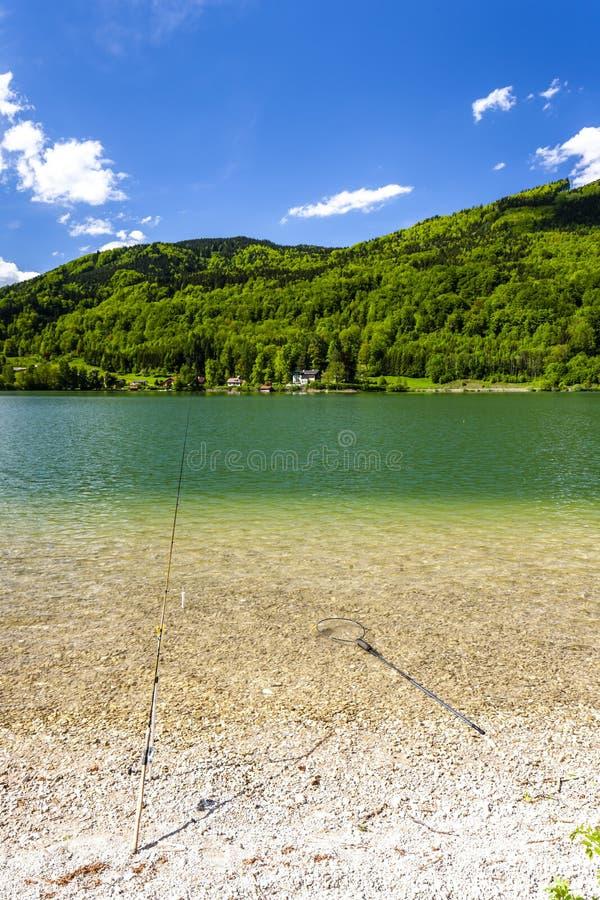 Λίμνη στην περιοχή Hallstat, Αυστρία στοκ εικόνες