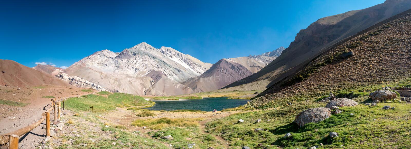 Λίμνη στον κοντινό Aconcagua στοκ φωτογραφία με δικαίωμα ελεύθερης χρήσης