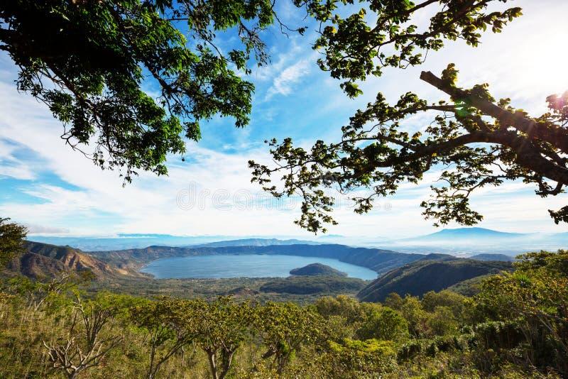 Λίμνη στο Ελ Σαλβαδόρ στοκ εικόνα