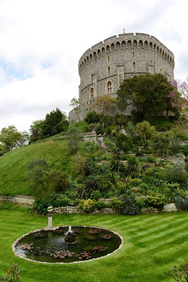 Λίμνη στο πάρκο σε Windsor Castle στοκ εικόνες