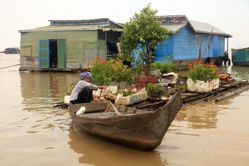 Λίμνη σφρίγους Tonle στοκ εικόνα
