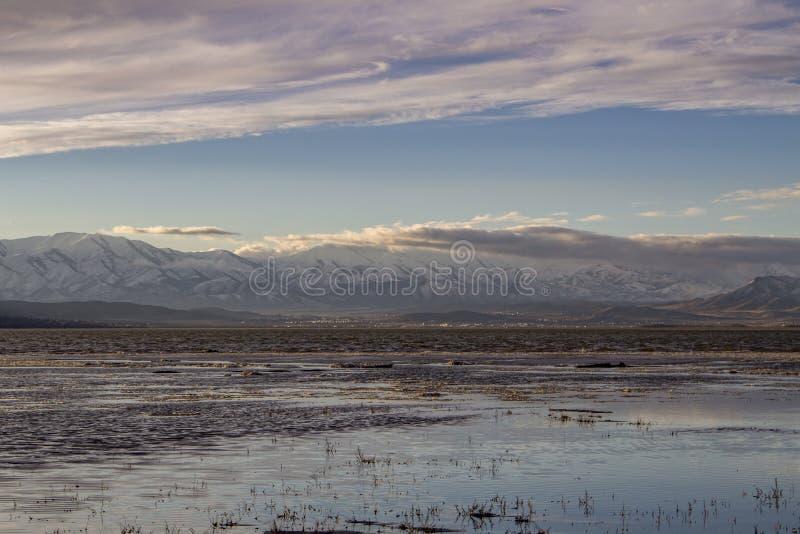 Λίμνη της Γιούτα το Φεβρουάριο στοκ εικόνες με δικαίωμα ελεύθερης χρήσης