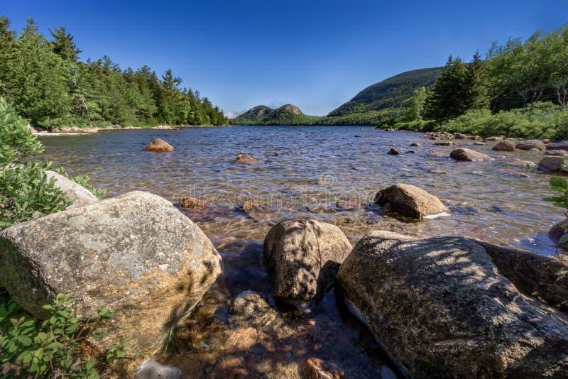 Λίμνη της Ιορδανίας, εθνικό πάρκο Maine acadia στοκ φωτογραφία με δικαίωμα ελεύθερης χρήσης