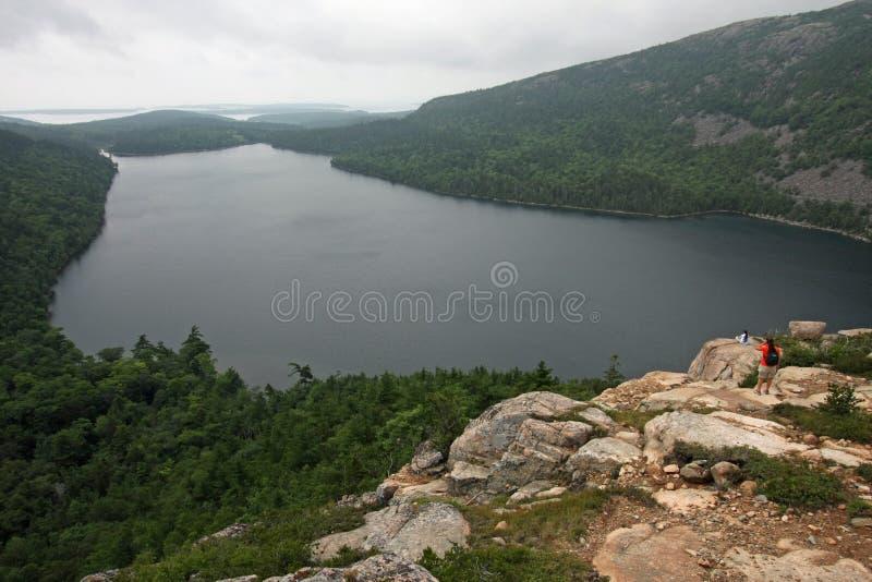 Λίμνη της Ιορδανίας στο εθνικό πάρκο Acadia, Μαίην στοκ φωτογραφίες με δικαίωμα ελεύθερης χρήσης
