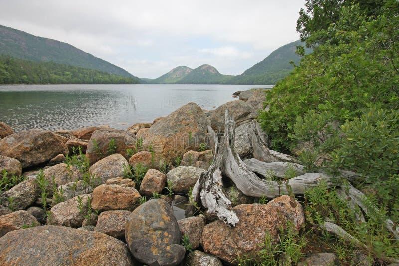 Λίμνη της Ιορδανίας στο εθνικό πάρκο Acadia, Μαίην στοκ φωτογραφία με δικαίωμα ελεύθερης χρήσης