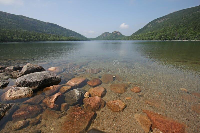 Λίμνη της Ιορδανίας στο εθνικό πάρκο Acadia, Μαίην στοκ εικόνες