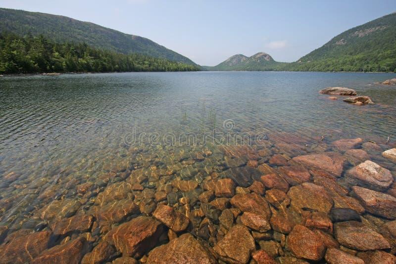Λίμνη της Ιορδανίας στο εθνικό πάρκο Acadia, Μαίην στοκ εικόνα