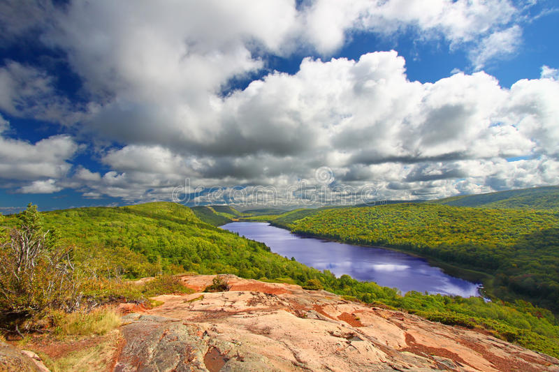 Λίμνη των σύννεφων Μίτσιγκαν στοκ φωτογραφία με δικαίωμα ελεύθερης χρήσης