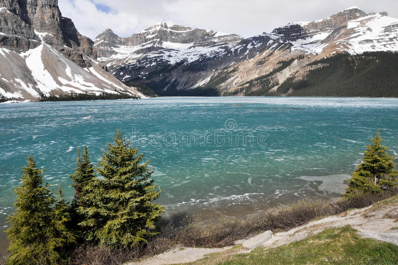 Λίμνη τόξων, δύσκολα βουνά (Καναδάς) στοκ φωτογραφία με δικαίωμα ελεύθερης χρήσης