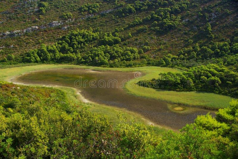 Λίμνη 04 Mljet στοκ εικόνα