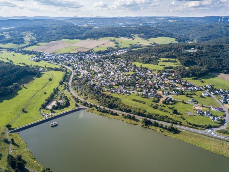 Λίμνη Aartalsee σε Hesse, Γερμανία στοκ φωτογραφία