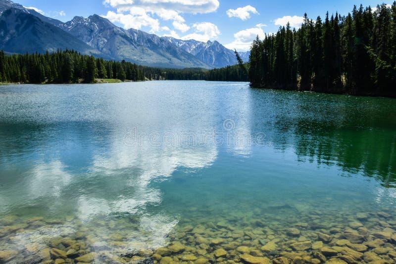 Λίμνη Banff Canda Johnson στοκ εικόνες με δικαίωμα ελεύθερης χρήσης