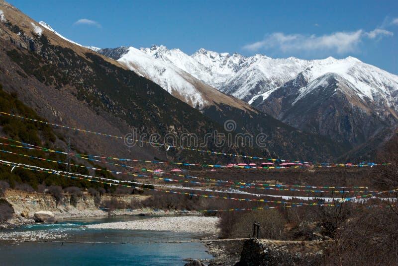 Λίμνη Basum, Nyingchi, Θιβέτ στοκ εικόνα