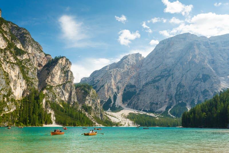 Λίμνη Braies στα ιταλικά Άλπεις στοκ φωτογραφία με δικαίωμα ελεύθερης χρήσης