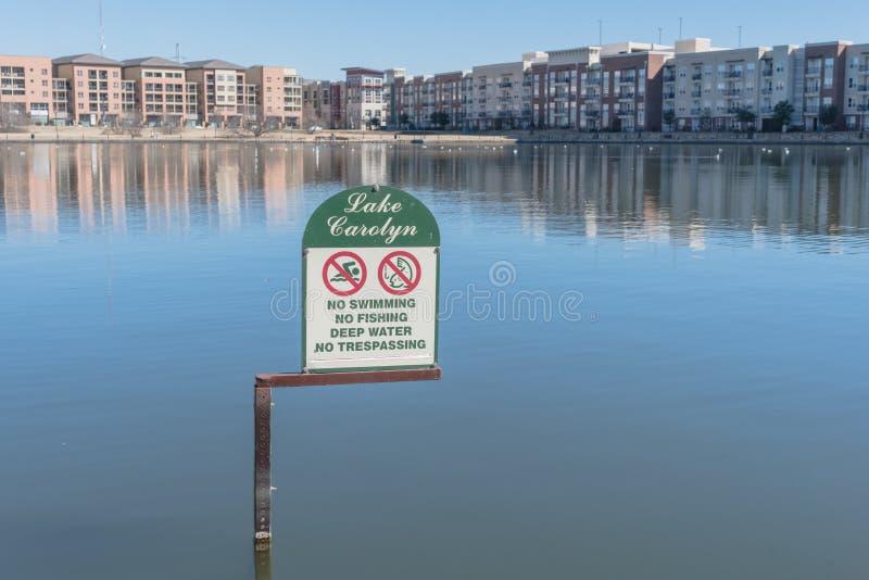 Λίμνη Carolyn σε Las Colinas, Irving, Τέξας, ΗΠΑ στοκ φωτογραφίες