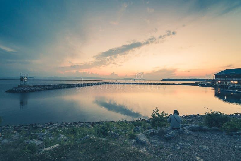 Λίμνη Champlain στο Μπέρλινγκτον Βιρτζίνια στοκ εικόνες