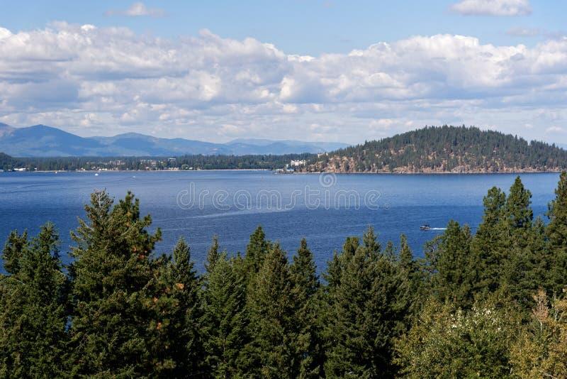 Λίμνη Coeur δ ` Alene, Αϊντάχο στοκ φωτογραφία με δικαίωμα ελεύθερης χρήσης