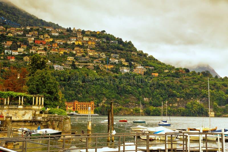 Λίμνη Como Cernobbio Ιταλία στοκ φωτογραφίες