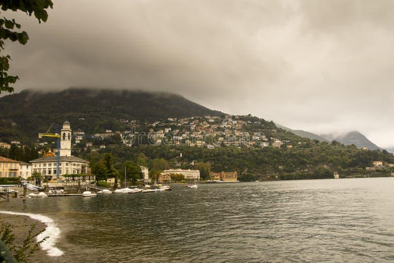 Λίμνη Como Cernobbio Ιταλία στοκ φωτογραφία