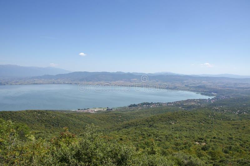 Λίμνη Dojran, πανόραμα της Μακεδονίας †« στοκ εικόνα με δικαίωμα ελεύθερης χρήσης