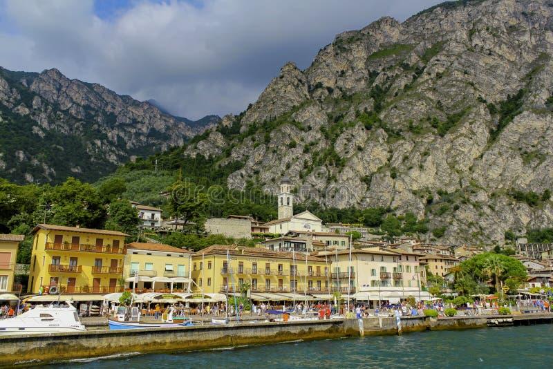 Λίμνη Garda Ιταλία Limone στοκ εικόνες με δικαίωμα ελεύθερης χρήσης