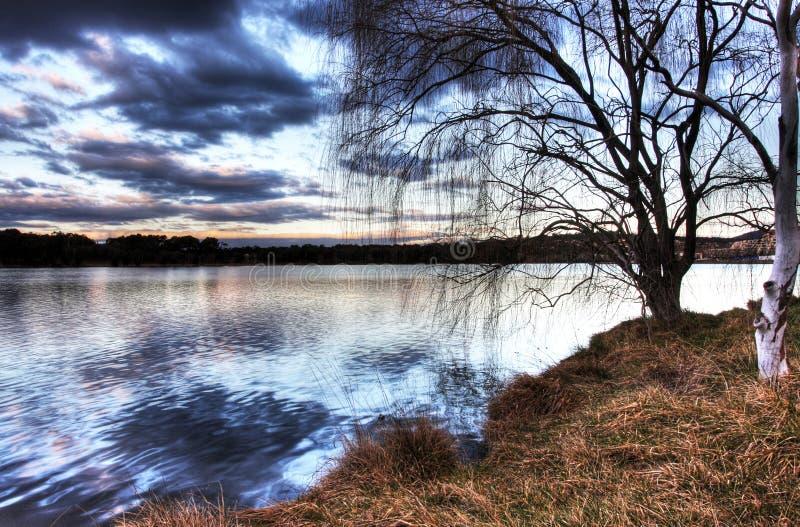 λίμνη ginninderra στοκ εικόνες