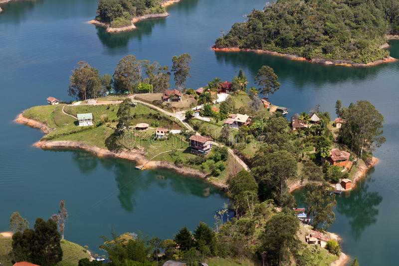 Λίμνη Guatape, Κολομβία στοκ φωτογραφία