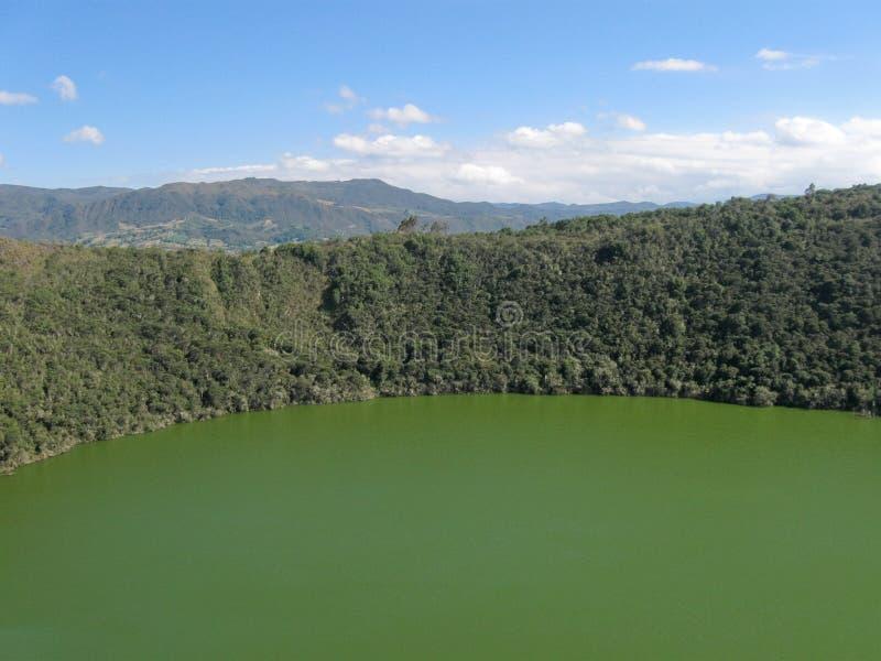 λίμνη guatavita της Κολομβίας στοκ εικόνες