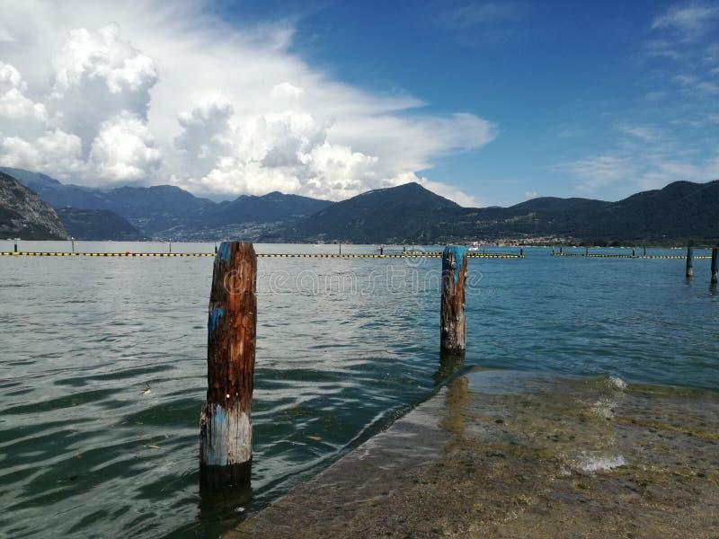 Λίμνη & x28 Iseo Italy& x29  στοκ φωτογραφία με δικαίωμα ελεύθερης χρήσης