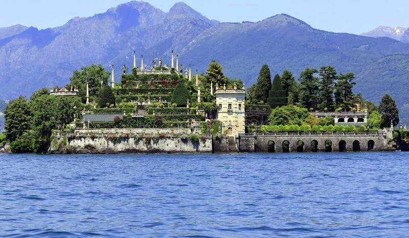 λίμνη isola bella maggiore στοκ φωτογραφίες