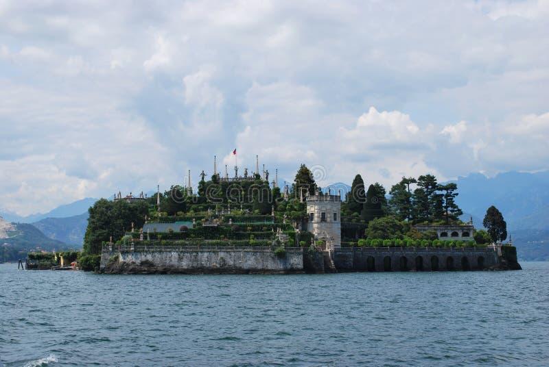 λίμνη isola bella maggiore στοκ φωτογραφία