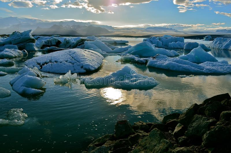 Λίμνη Jokulsarlon, Ισλανδία στοκ εικόνα με δικαίωμα ελεύθερης χρήσης