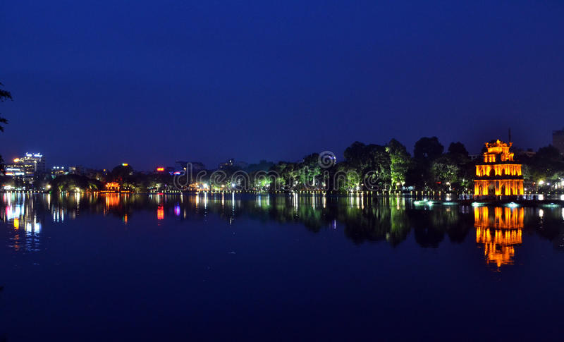 Λίμνη Kiem Hoan, Ανόι, Βιετνάμ στοκ εικόνα με δικαίωμα ελεύθερης χρήσης