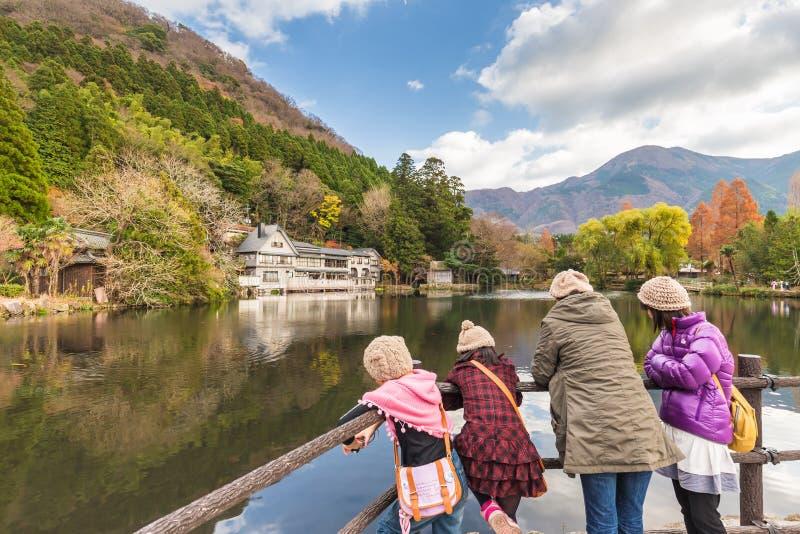 Λίμνη Kinrinko στην πόλη Oita, Ιαπωνία Yufuin στοκ φωτογραφία με δικαίωμα ελεύθερης χρήσης