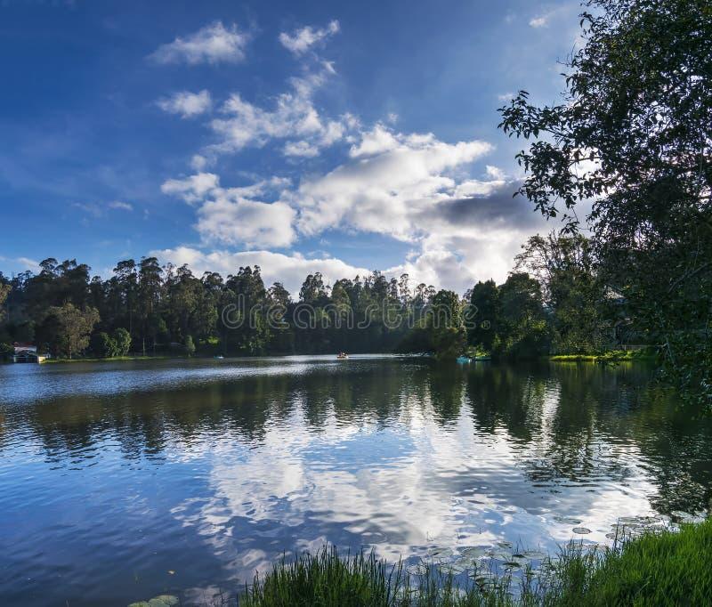 Λίμνη Kodaikanal (πριγκήπισσα των σταθμών Hill), Tamil Nadu, Ινδία στοκ εικόνες με δικαίωμα ελεύθερης χρήσης