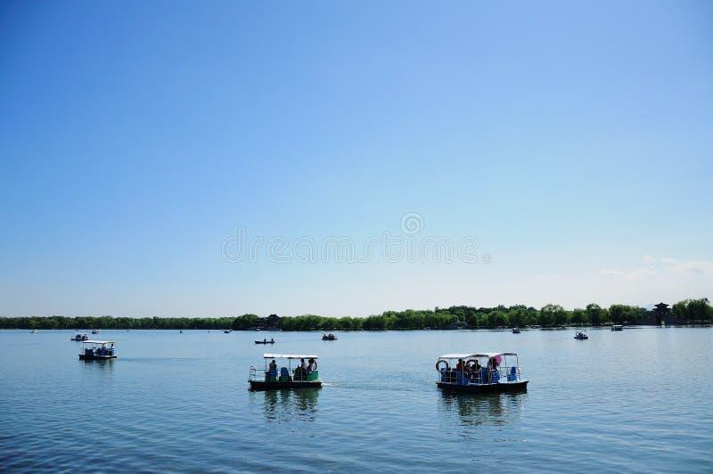Λίμνη kunming λίμνη καλοκαίρι παλατιών του Π& Πάρκο Βάρκα στοκ φωτογραφίες με δικαίωμα ελεύθερης χρήσης