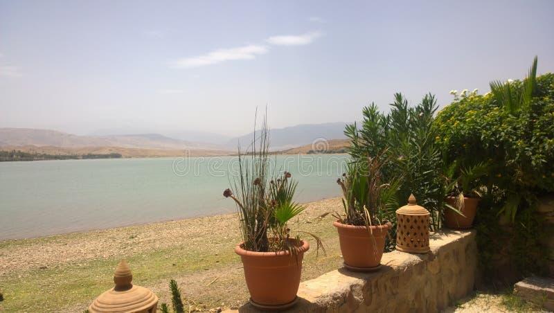 Λίμνη Lalla Takerkoust, Μαρακές - Μαρόκο στοκ φωτογραφία