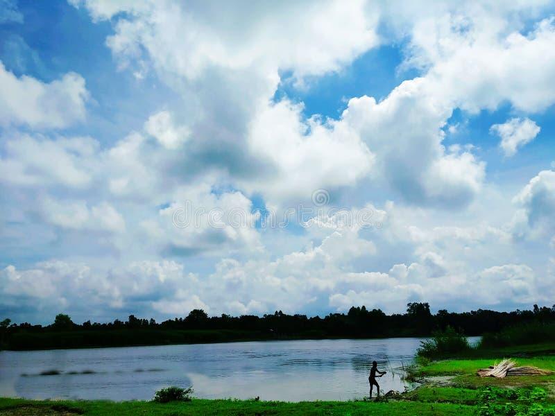 Λίμνη Lomond σε Rowardennan, καλοκαίρι σε Tangail, Μπανγκλαντές στοκ φωτογραφίες με δικαίωμα ελεύθερης χρήσης