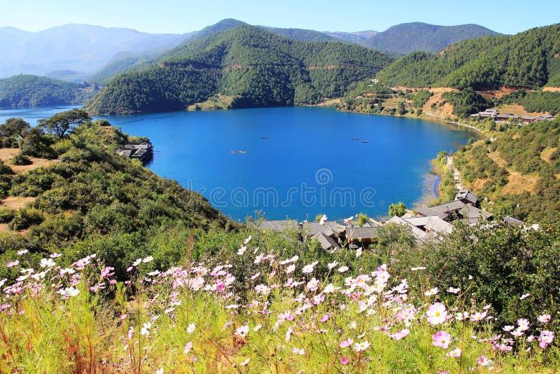 Λίμνη Lugu στοκ φωτογραφία με δικαίωμα ελεύθερης χρήσης