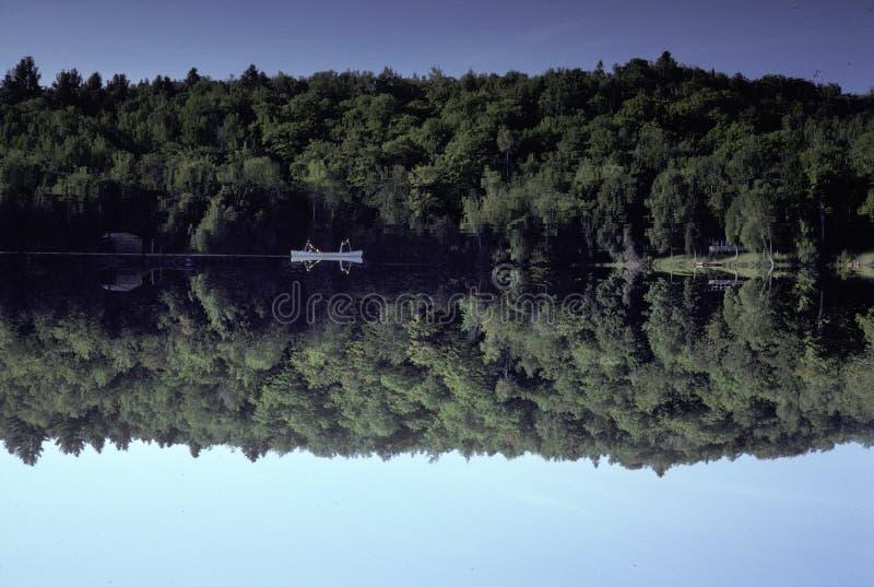 λίμνη Maine Χεβρώνας κωπηλασία&s στοκ φωτογραφία με δικαίωμα ελεύθερης χρήσης