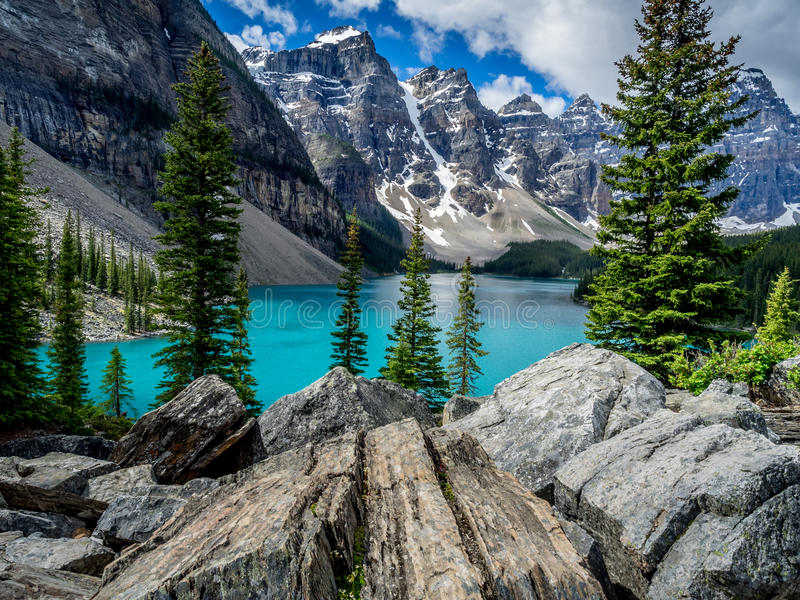 Λίμνη Moraine, Banff στοκ εικόνα
