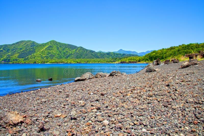 Λίμνη Motosu στην Ιαπωνία στοκ φωτογραφία
